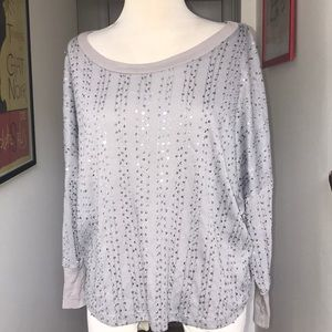 Charlotte Russo Gray Sequined too size XS 😘